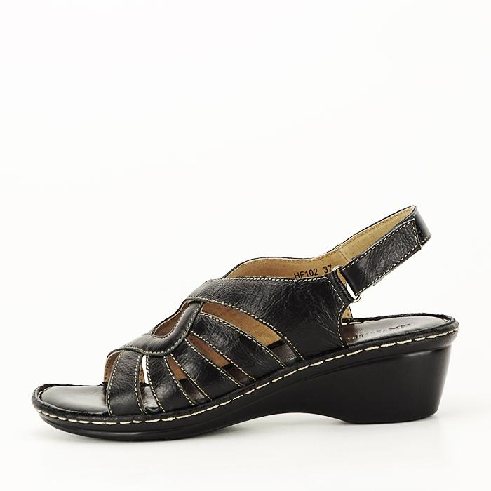 Sandale negre din piele naturala Eliza [0]