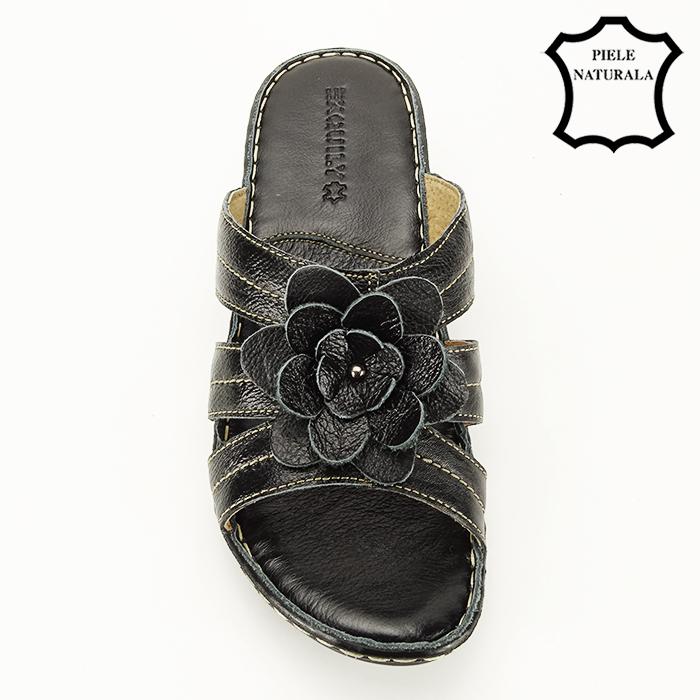Sandale negre din piele naturala Felicia [2]