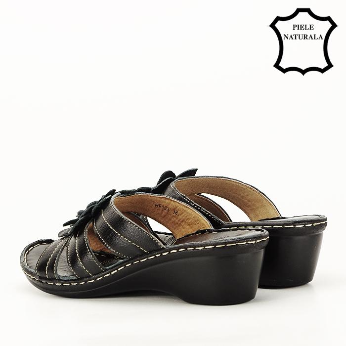 Sandale negre din piele naturala Felicia [6]