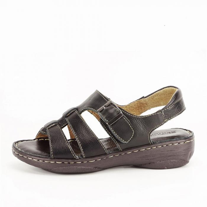 Sandale negre dama din piele naturala Lucy [0]