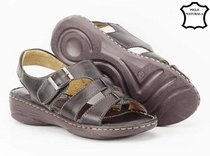 Sandale negre dama din piele naturala Lucy 2