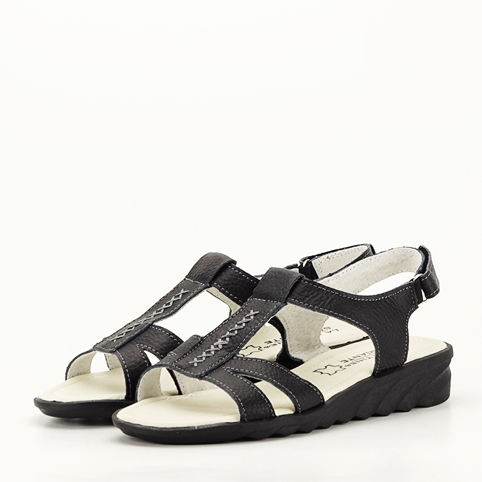 Sandale negre din piele naturala Silvia [0]