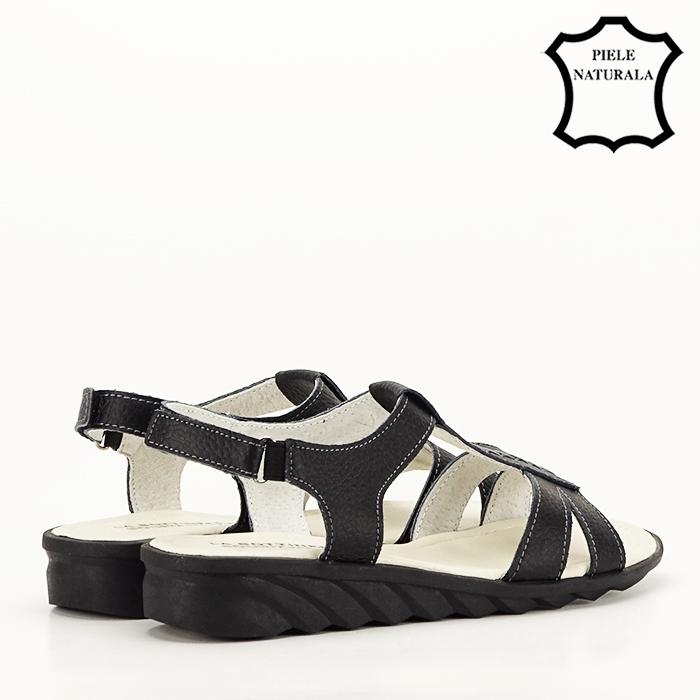 Sandale negre din piele naturala Silvia [2]
