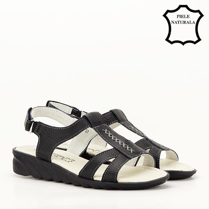 Sandale negre din piele naturala Silvia [6]