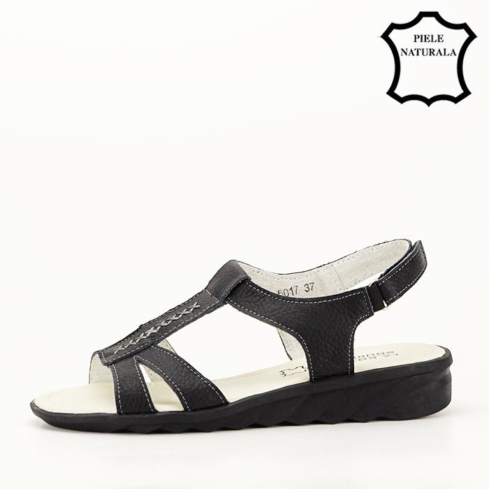 Sandale negre din piele naturala Silvia [1]