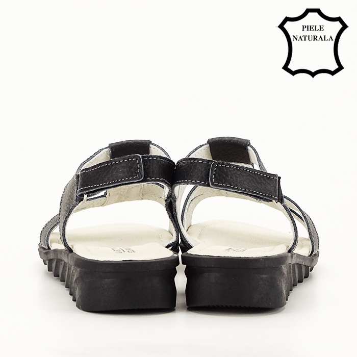 Sandale negre din piele naturala Silvia [4]