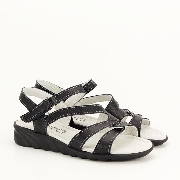 Sandale negre din piele naturala Suzana [2]