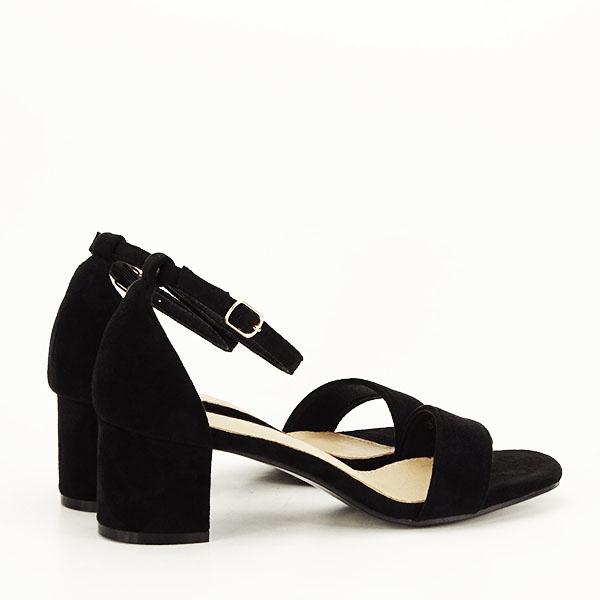 Sandale negre din velur Lorena [4]