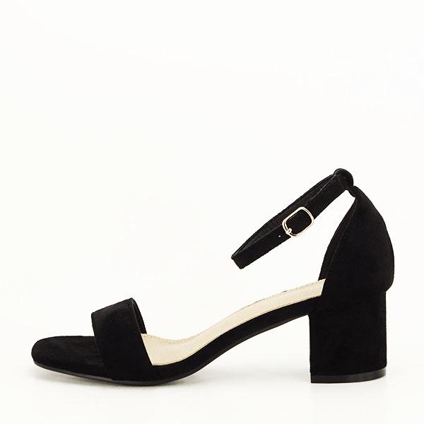 Sandale negre din velur Lorena [0]