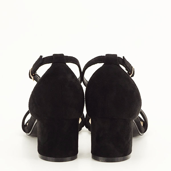 Sandale negre din velur Lorena [5]