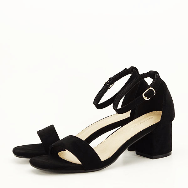 Sandale negre din velur Lorena [1]