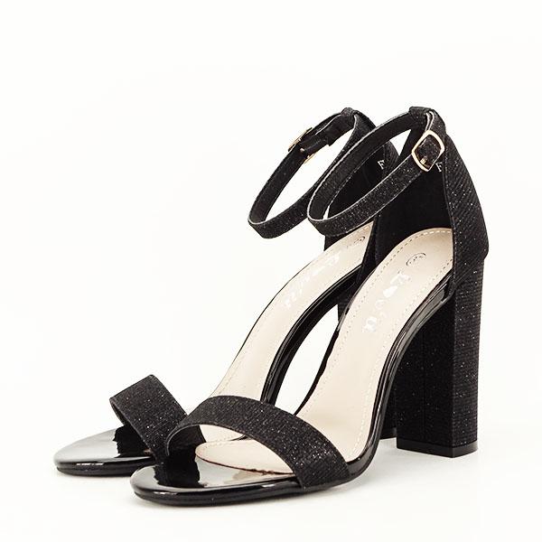 Sandale negre elegante cu sclipici Simona [1]