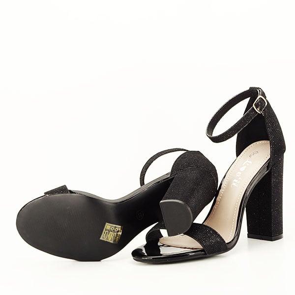 Sandale negre elegante cu sclipici Simona [7]
