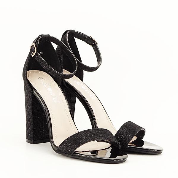 Sandale negre elegante cu sclipici Simona [3]