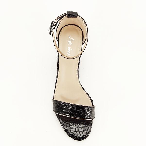 Sandale negre lacuite Sofia [4]