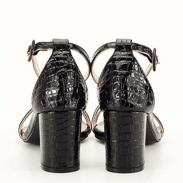 Sandale negre lacuite Sofia [3]