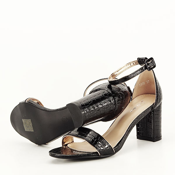 Sandale negre lacuite Sofia [5]