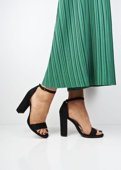 Sandale negre cu toc inalt Mathilde 8