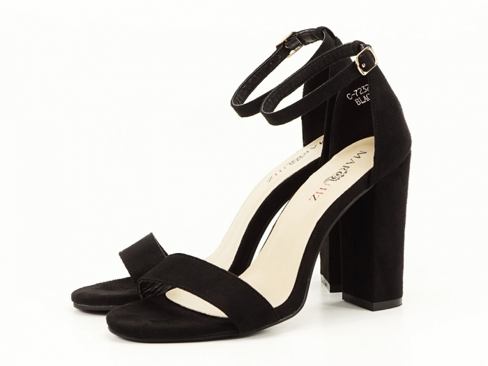 Sandale negre cu toc inalt Mathilde 4