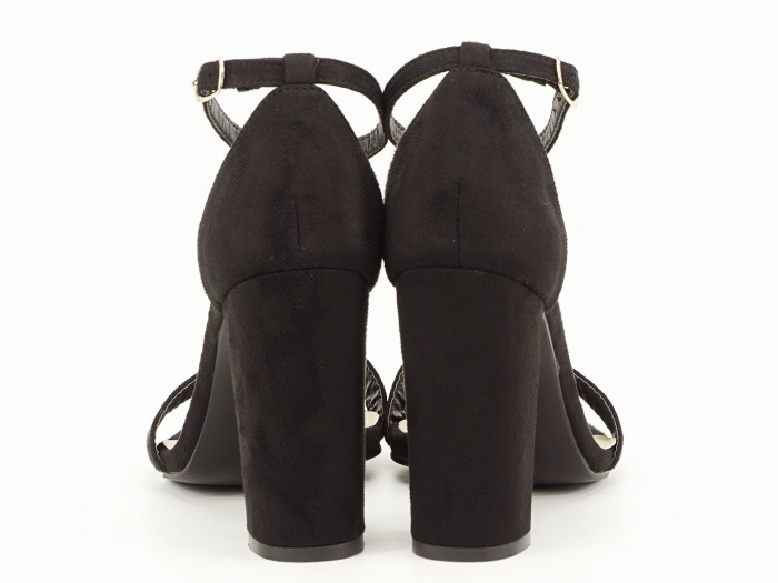 Sandale negre cu toc inalt Mathilde 3