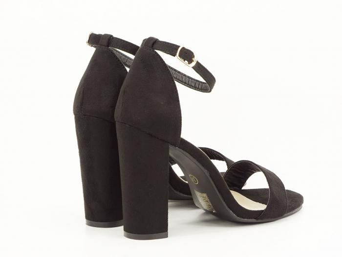 Sandale negre cu toc inalt Mathilde 7