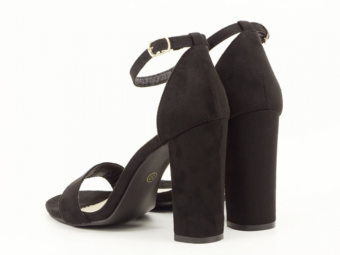 Sandale negre cu toc inalt Mathilde 6