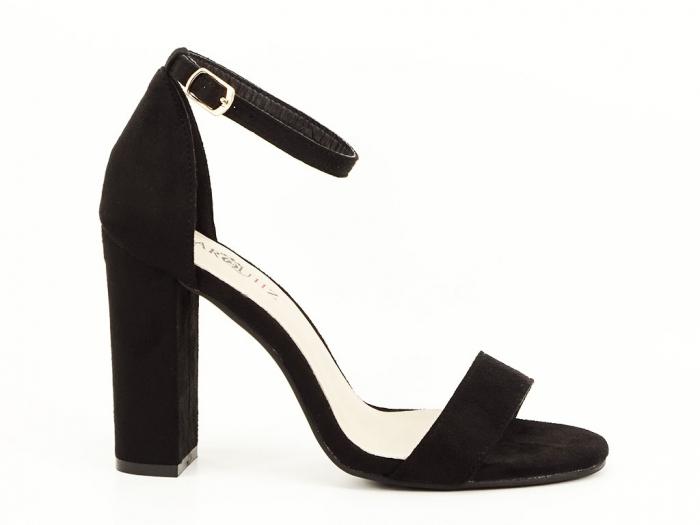 Sandale negre cu toc inalt Mathilde 0