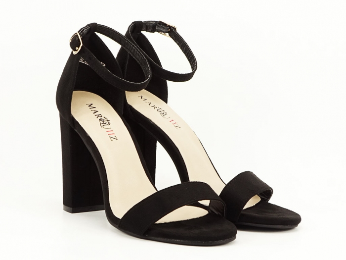 Sandale negre cu toc inalt Mathilde 1