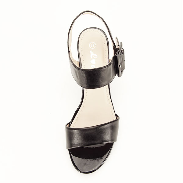 Sandale negre office/casual Berna [2]