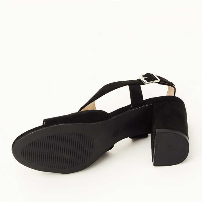 Sandale negre office/casual Olive [7]