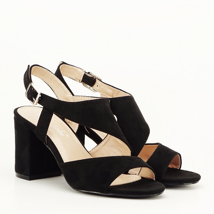 Sandale negre office/casual Olive [3]