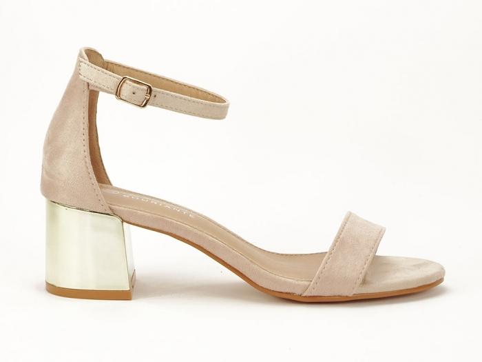 Sandale nude elegante cu toc mic Maya 0