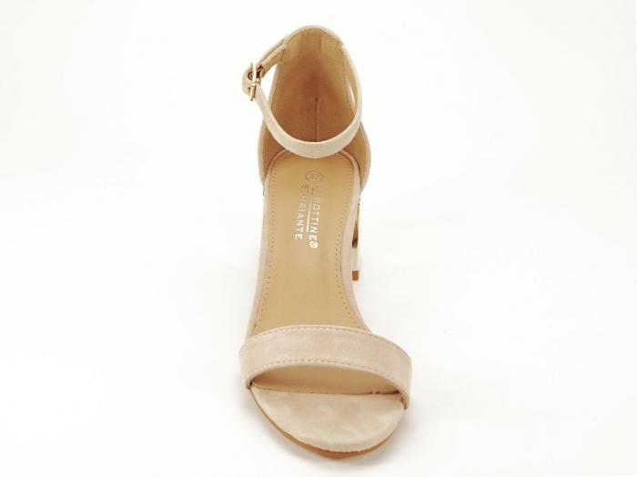 Sandale nude elegante cu toc mic Maya 5