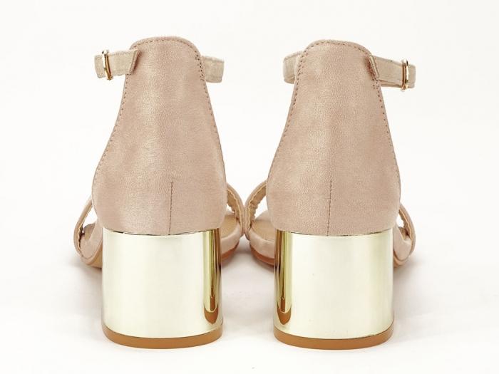 Sandale nude elegante cu toc mic Maya 3