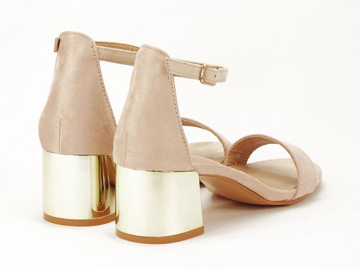 Sandale nude elegante cu toc mic Maya 2