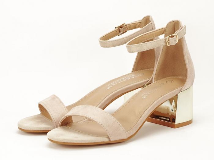 Sandale nude elegante cu toc mic Maya 7