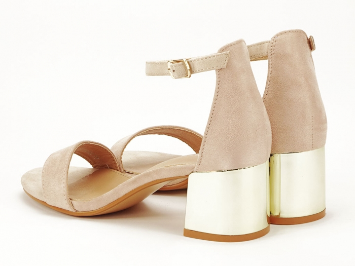 Sandale nude elegante cu toc mic Maya 4