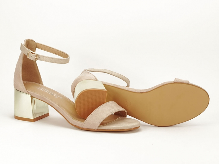 Sandale nude elegante cu toc mic Maya 6