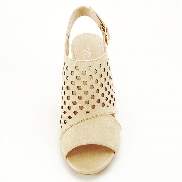 Sandale perforate bej Penelope 3