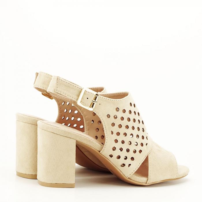 Sandale perforate bej Penelope 4