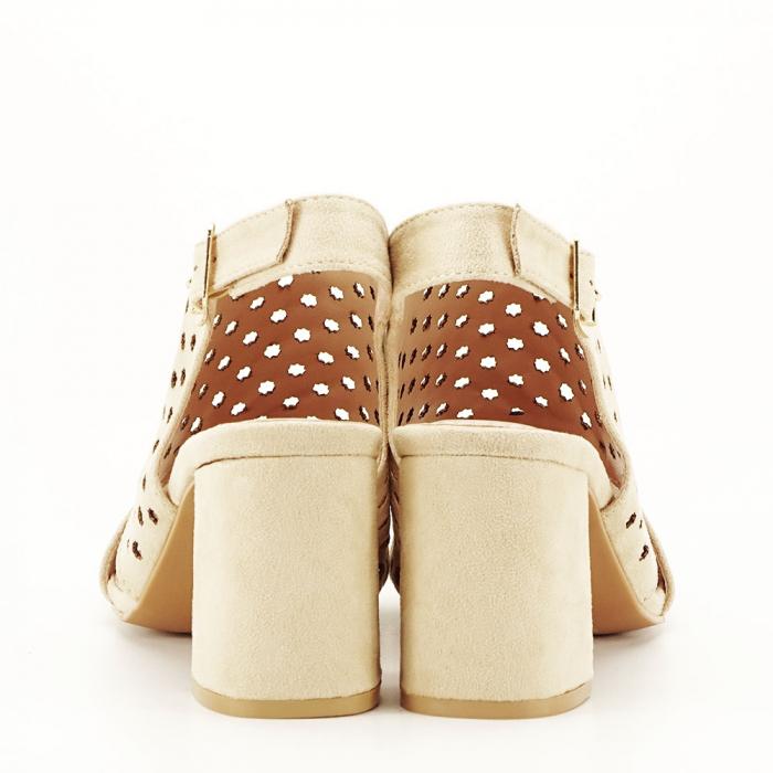 Sandale perforate bej Penelope 5