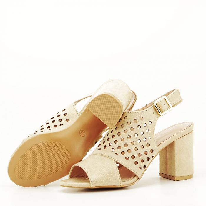 Sandale perforate bej Penelope 7