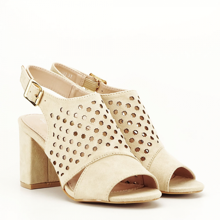 Sandale perforate bej Penelope 2