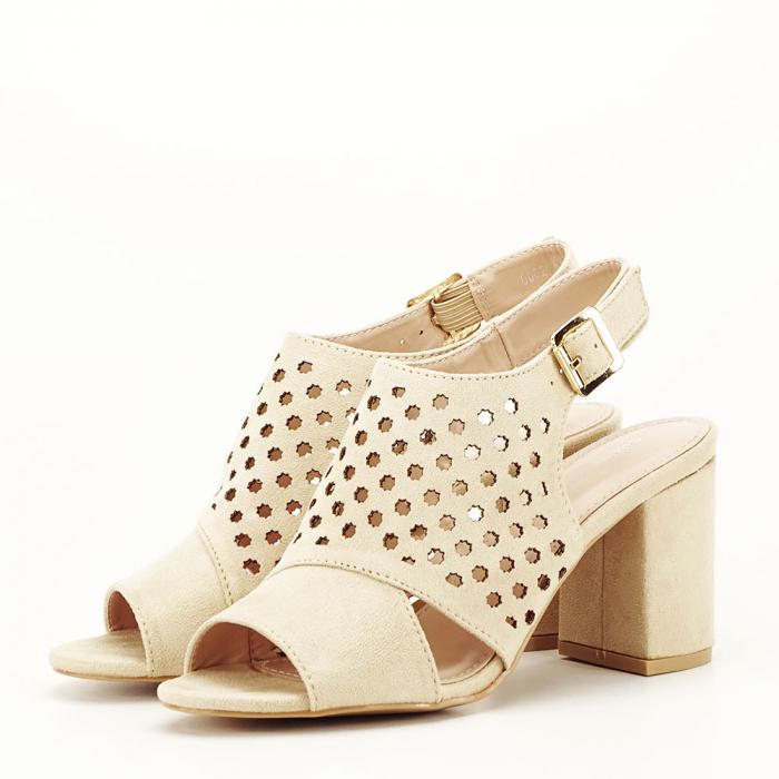 Sandale perforate bej Penelope 0