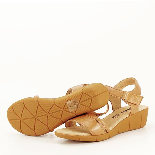 Sandale piele naturala maro deschis Mara [7]