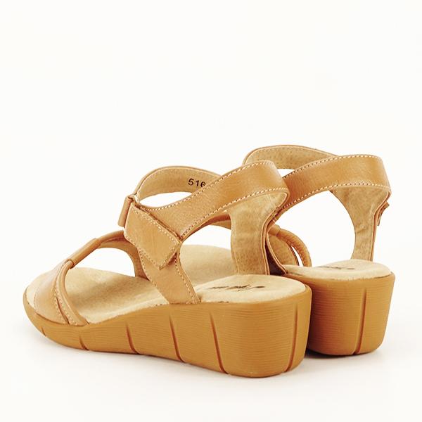 Sandale piele naturala maro deschis Mara [4]