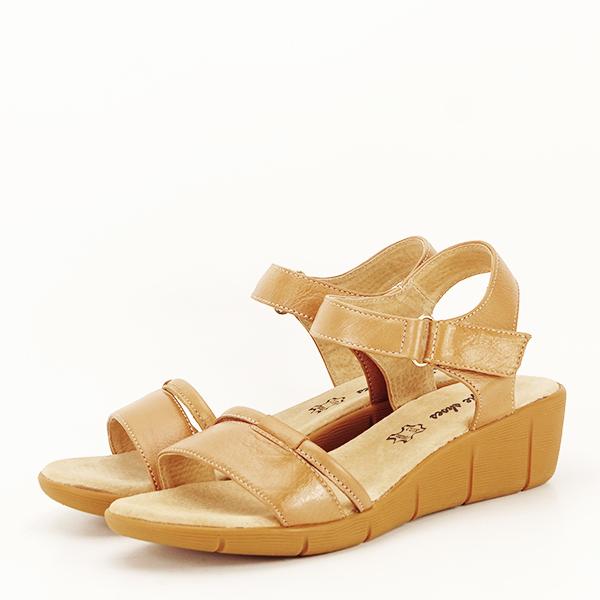 Sandale piele naturala maro deschis Mara [1]