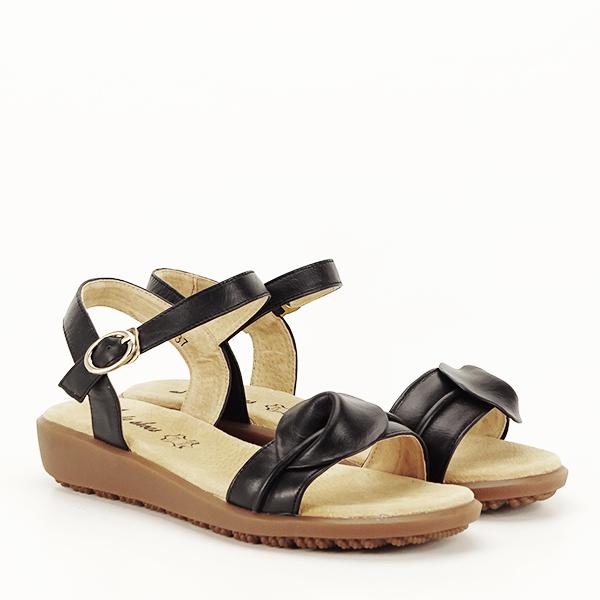 Sandale piele naturala negre Lori [2]