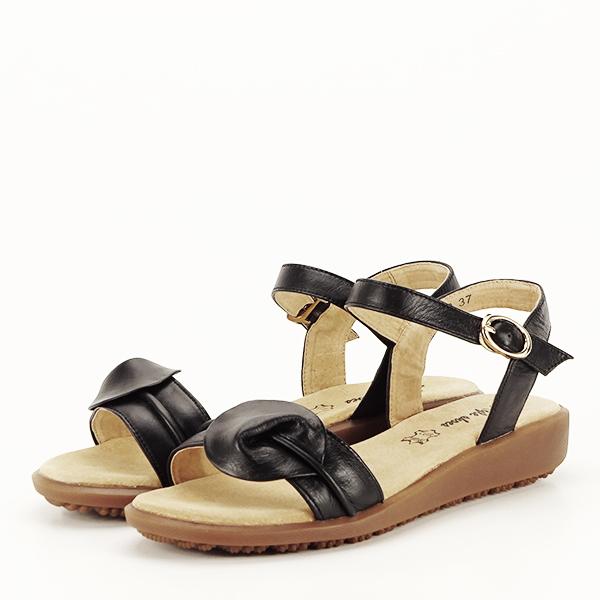Sandale piele naturala negre Lori [0]