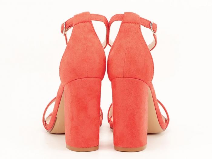 Sandale portocalii dama cu toc inalt Mathilde 2 4